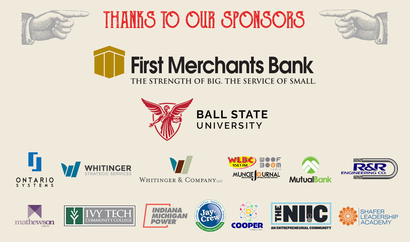 A 2018 listing of the sponsors that support the Excellence in Innovation Awards (EIIA) and the BIG Idea Pitch at the Innovation Connector.